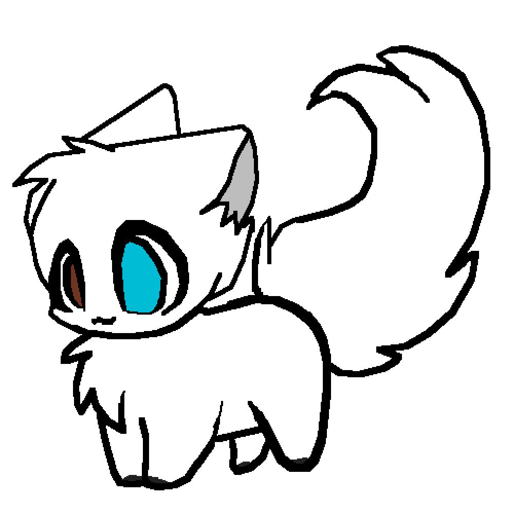 svg freeuse library Pixilart by septicartist . Drawing kawaii arctic fox