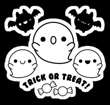 vector transparent library kawaii halloween