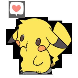 vector transparent library Kawaii Pikachu