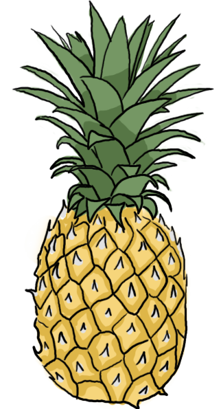 clip art free download Pineapple by Maddie