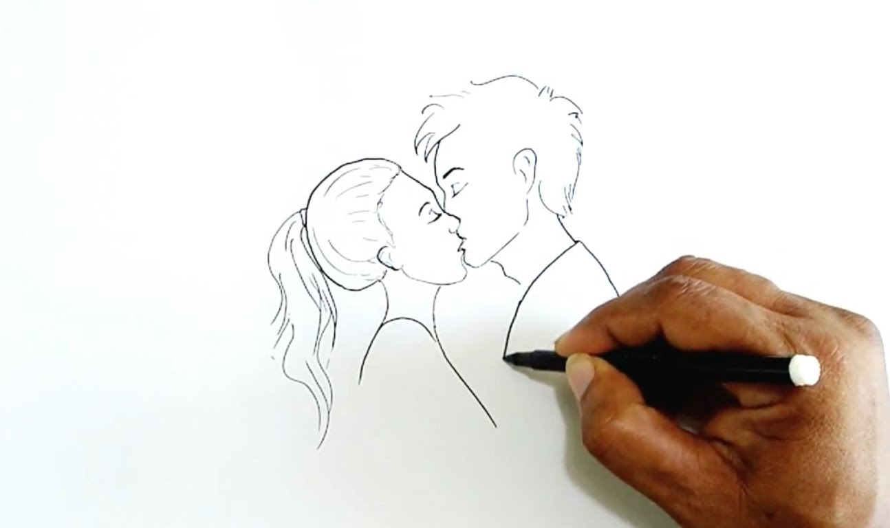 vector freeuse stock How to draw a. Drawing kisses.