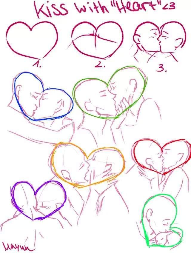 svg transparent stock Drawing kisses poses. Pin by hannah t.