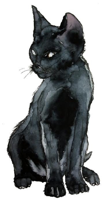 clip art black and white drawing kitten art #94474441