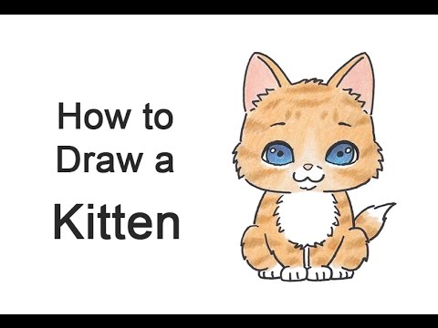 clipart freeuse library How to Draw a Cartoon Kitten