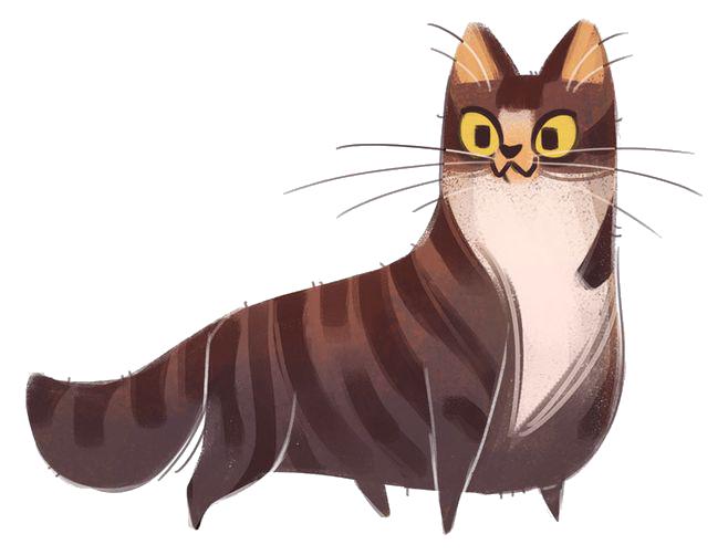 vector Cat Kitten Drawing Cartoon Illustration