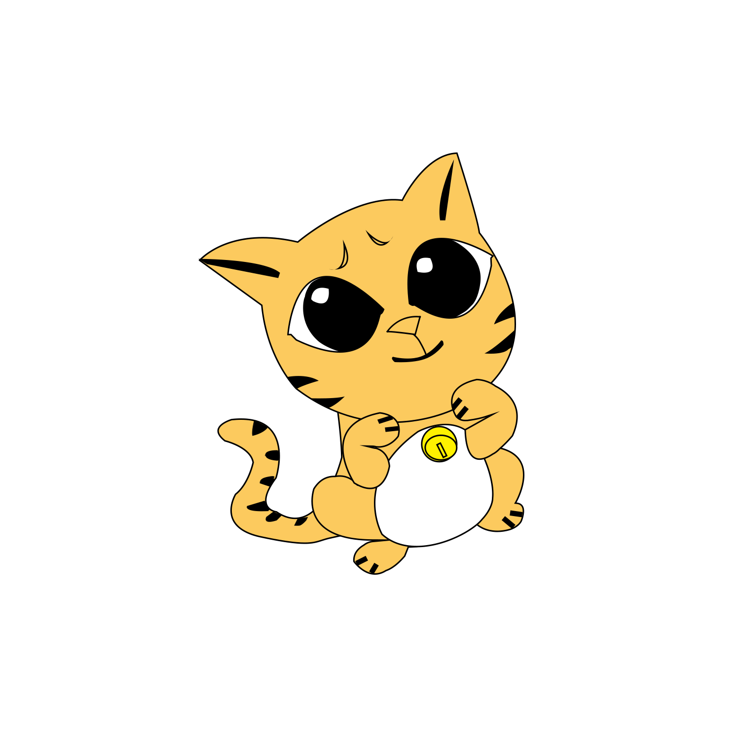 svg freeuse stock Kitten Cat Whiskers Yellow Drawing