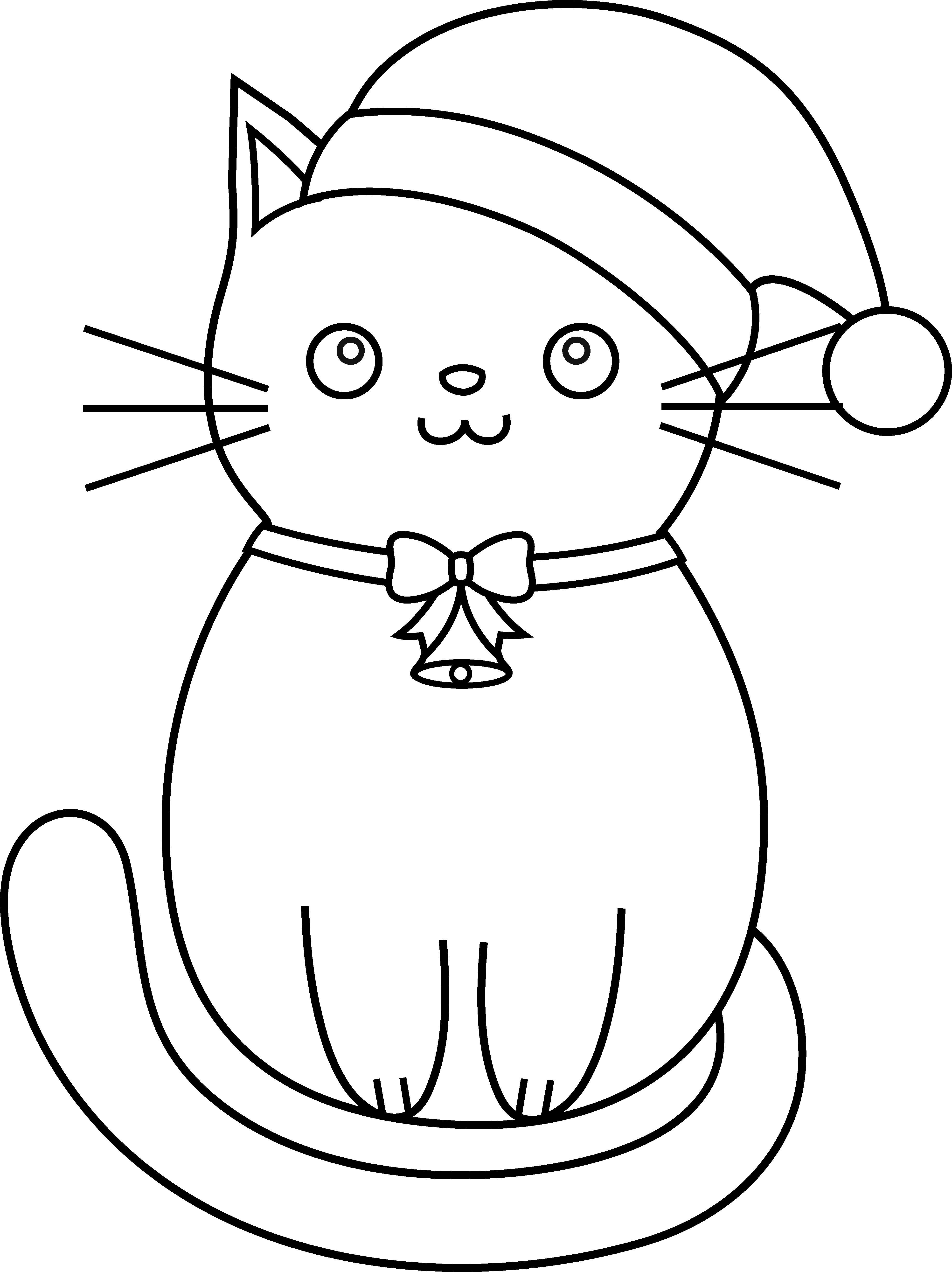 library Christmas Cat Drawing at GetDrawings