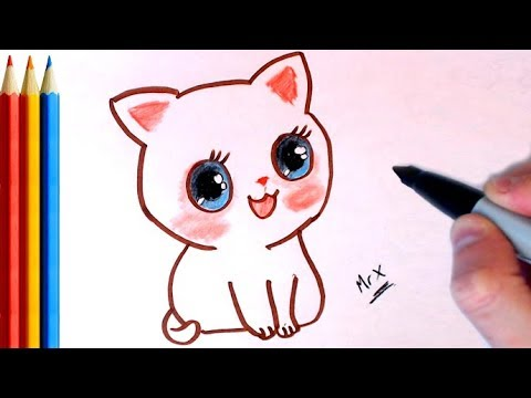 graphic free library How to Draw Kitten