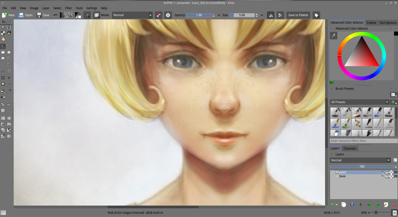 png royalty free download Getting started with Krita
