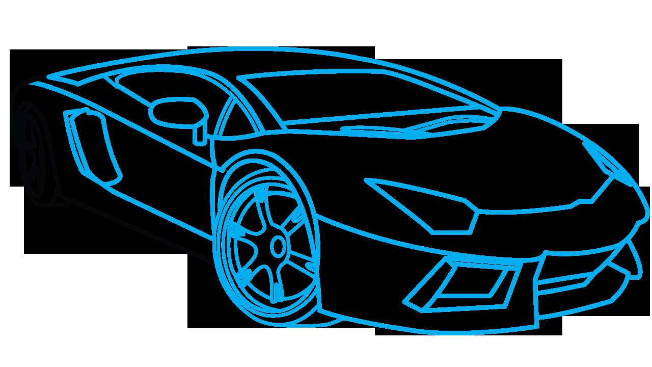 jpg stock How to Draw Lamborghini Aventador