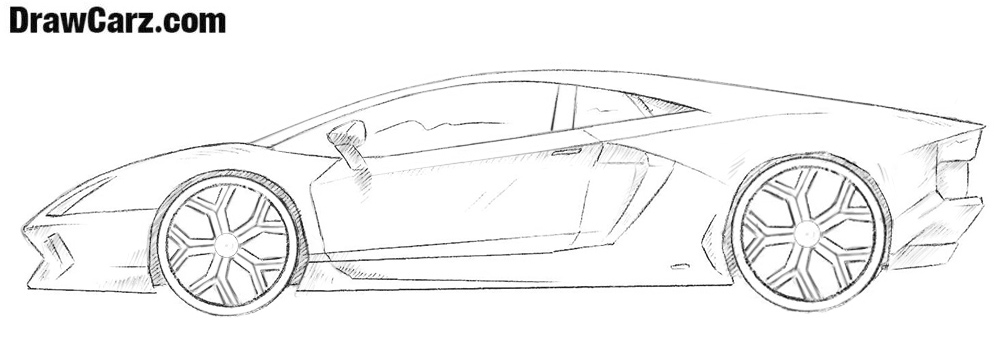 svg Drawing lambo. How to draw a.