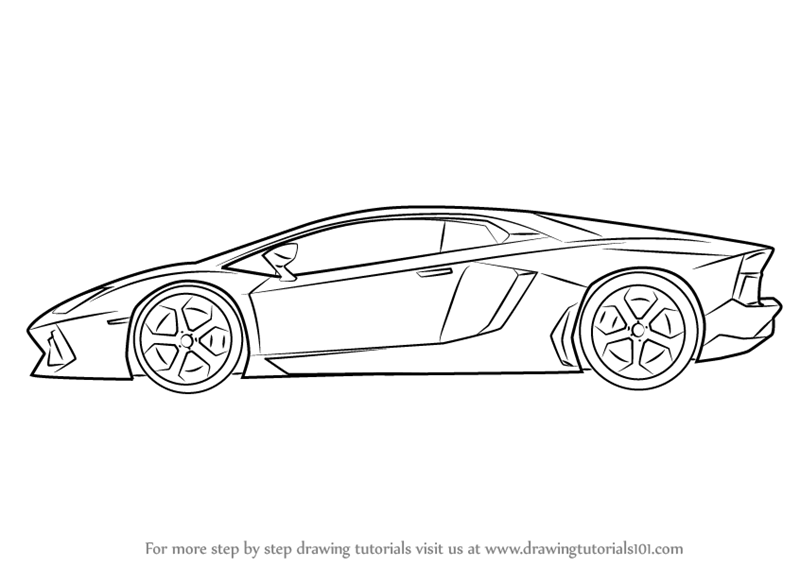 vector freeuse download Drawing lambo. Learn how to draw.