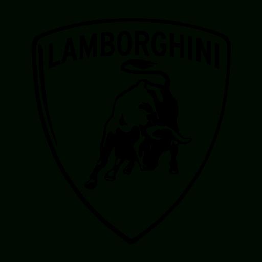 png freeuse stock Drawing lambo. Lamborghini logo shot on.