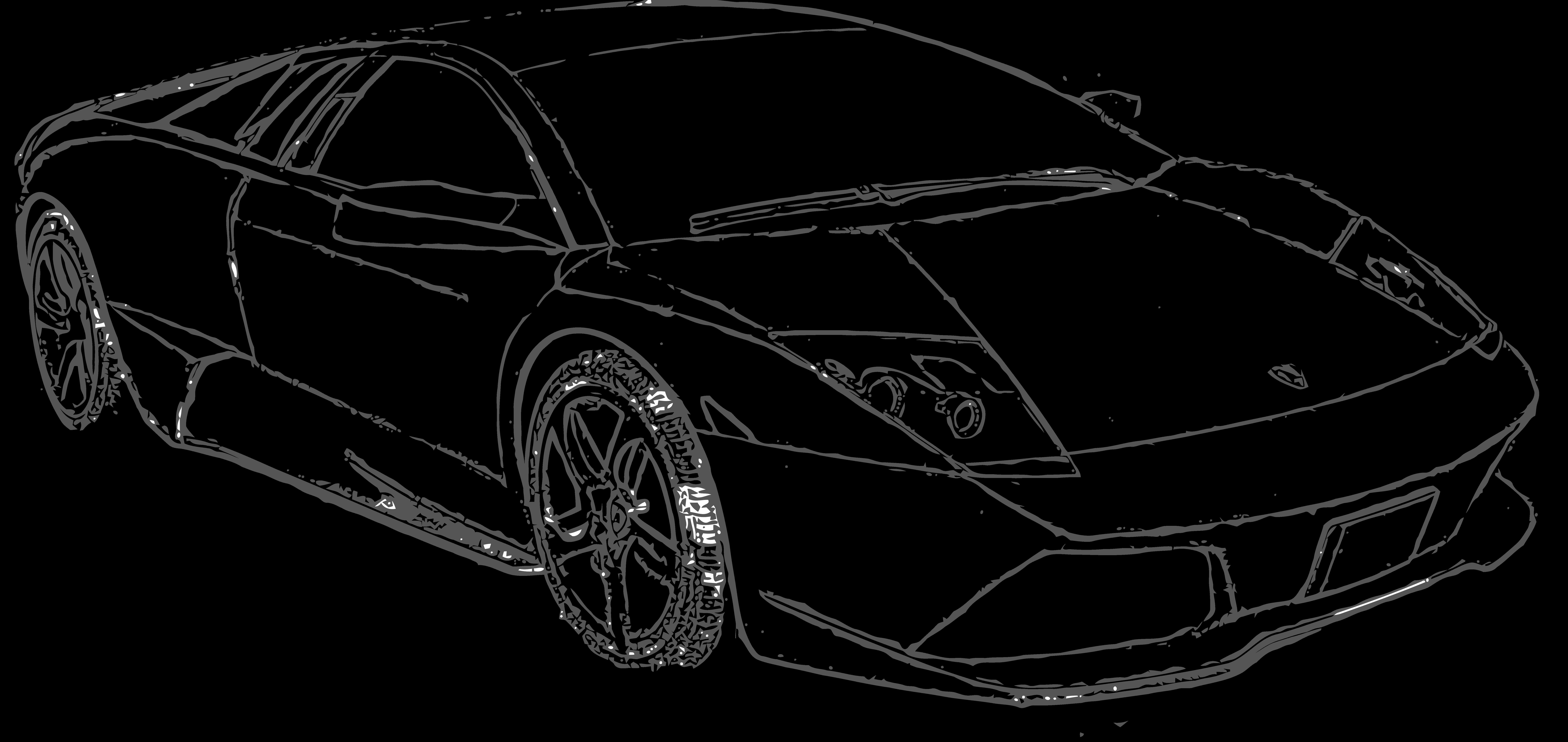 svg transparent download Lamborghini outline at getdrawings. Drawing lambo.