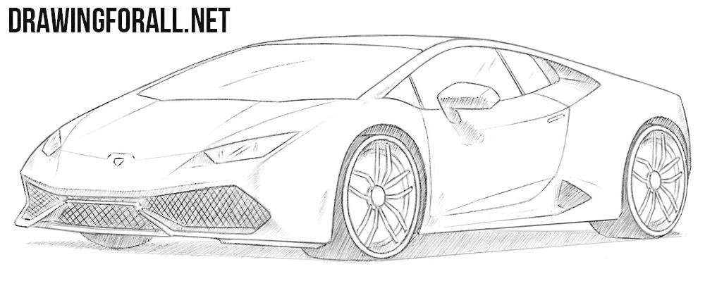 svg free download Drawing lambo. How to draw a.