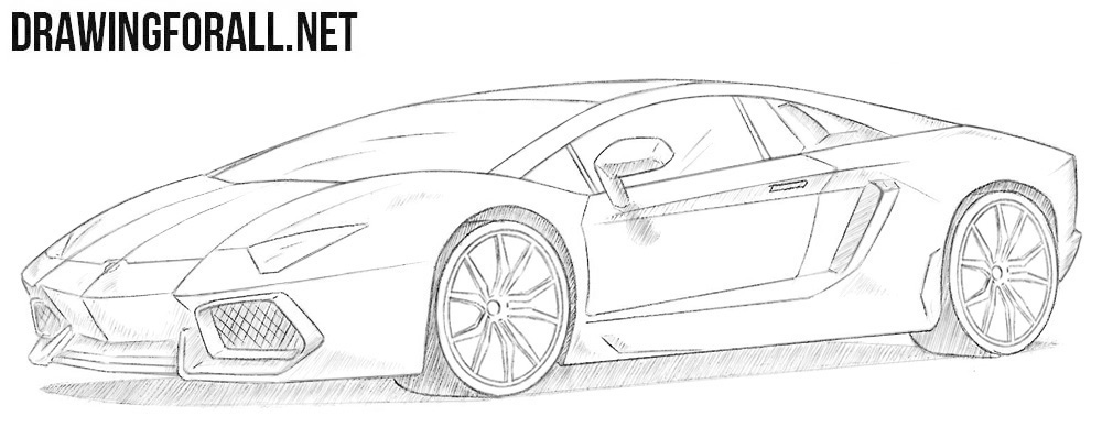 jpg library library How to Draw a Lamborghini Aventador