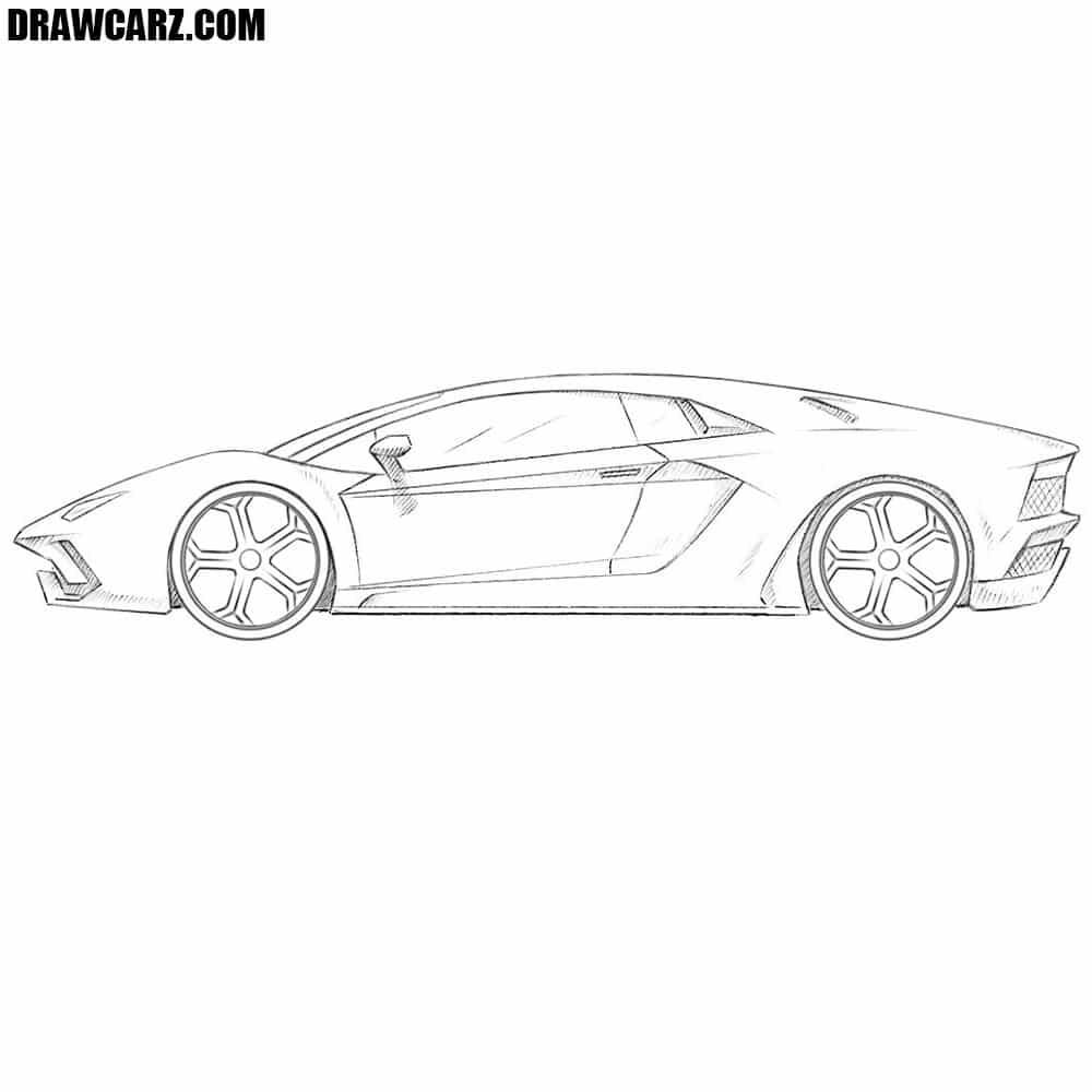 graphic library stock How to Draw a Lamborghini Aventador