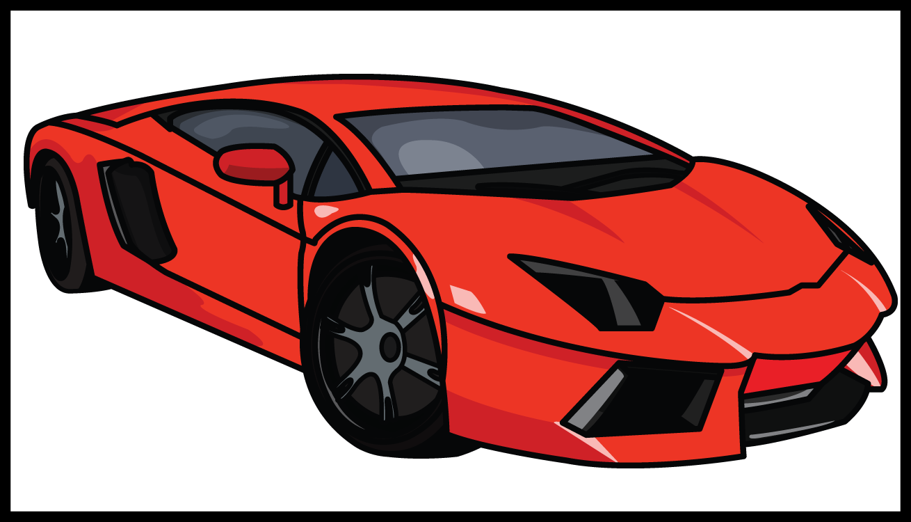 vector freeuse Collection of free Lamborghini drawing