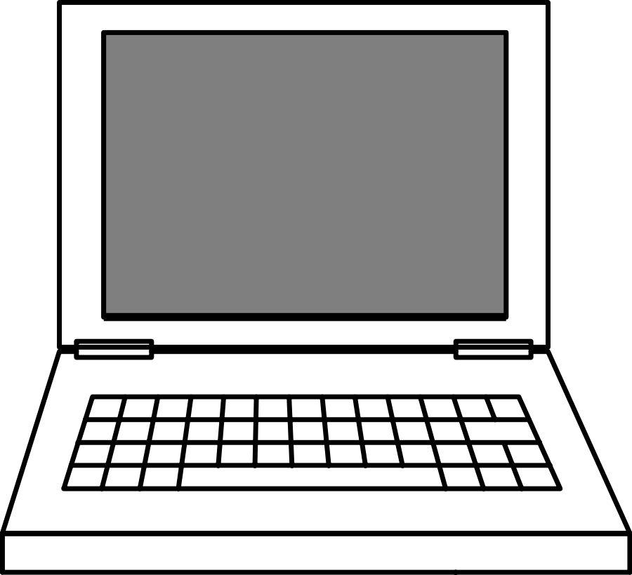 picture freeuse library  collection of a. Drawing laptops