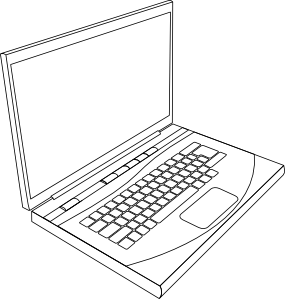 freeuse download Drawing laptops. Aurium laptop in line