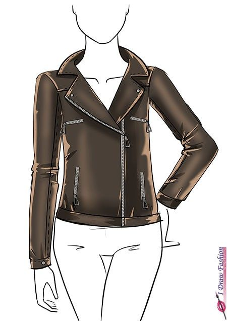 banner transparent stock Draw a jacket clothes. Drawing outfits leather