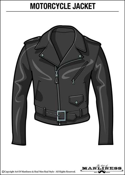 royalty free stock How to wear a. Drawing outfits leather