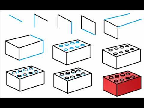 graphic freeuse Block drawing easy. Technical with legos lessons