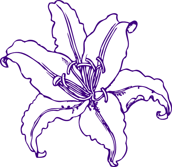 svg freeuse library Purple Lilly Clip Art at Clker
