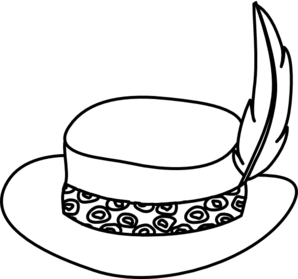 png royalty free download Hat Line Drawing at GetDrawings