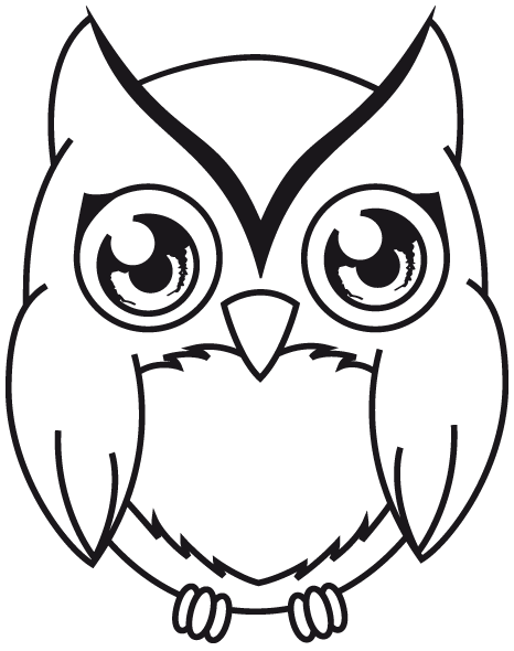 clip art freeuse download Drawing owl owlet. Line at getdrawings com