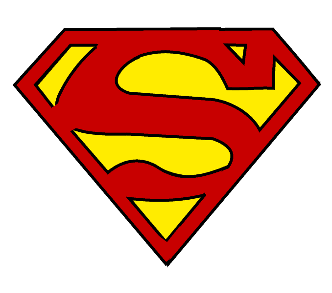 clipart library stock How to draw logo. Drawing superman