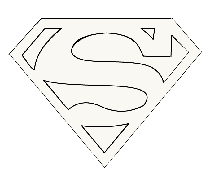 clipart transparent download How to Draw Superman Logo