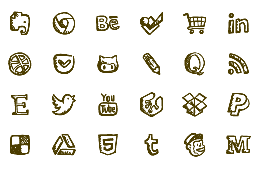 picture black and white stock Friendly Icons Ultimate