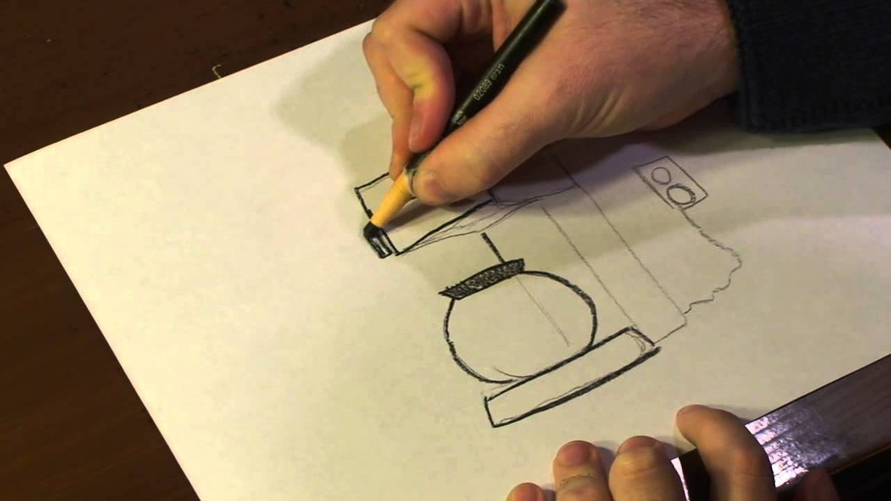 vector royalty free Drawing maker. How to draw a