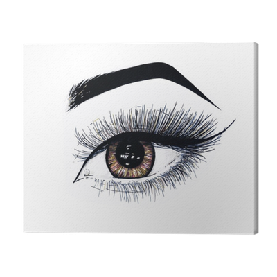 picture free stock Beautiful open female eye. Drawing makeup