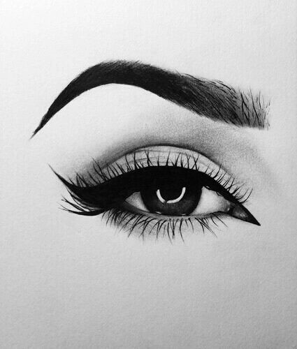 picture free library Drawing makeup. Art dessin cils et