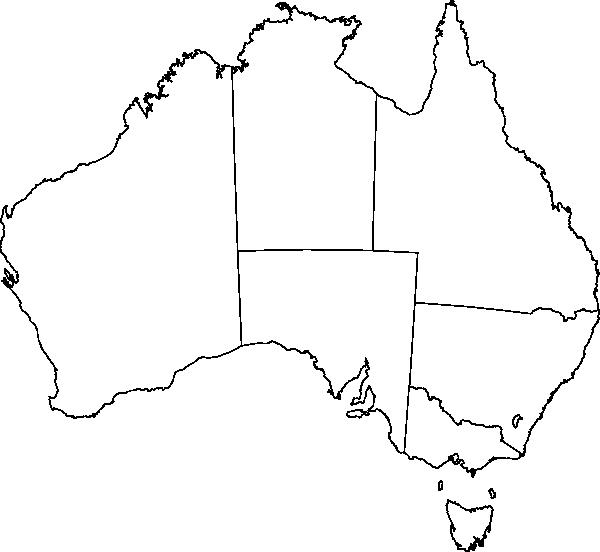 clipart black and white stock Line plain clip art. Australia drawing simple