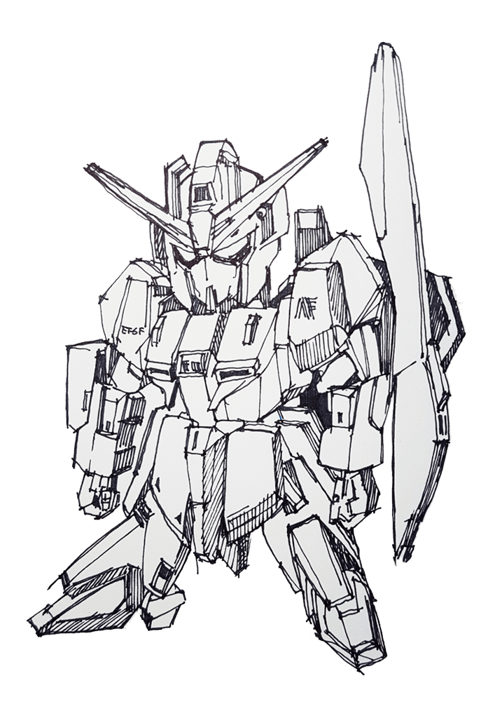 svg black and white Collection of free Gundam drawing