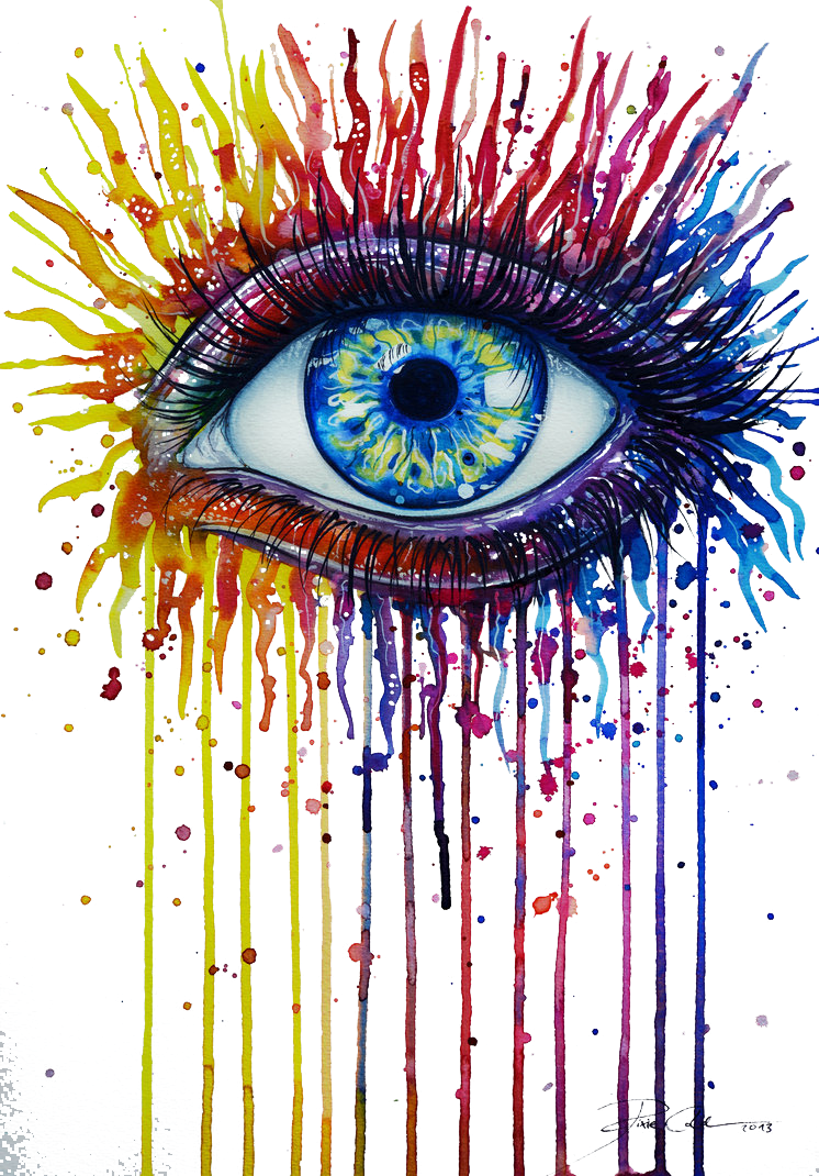 png royalty free Watercolor painting art fire. Bean drawing eye