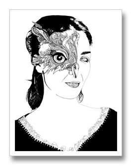 black and white download Illustrations and Mixed Media Art by Linn Olofsdotter