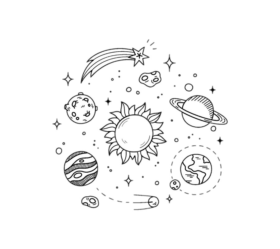 clipart free library Art planet transprent png. Drawing technique doodle