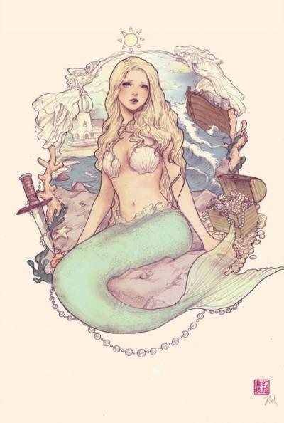 jpg download mermaid drawing