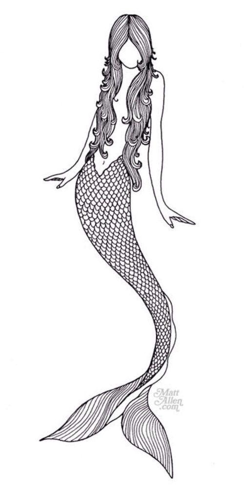 svg transparent stock Mermaid black