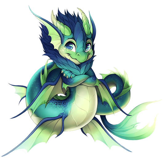 png library stock Dragon Mermaid by Kiwiggle