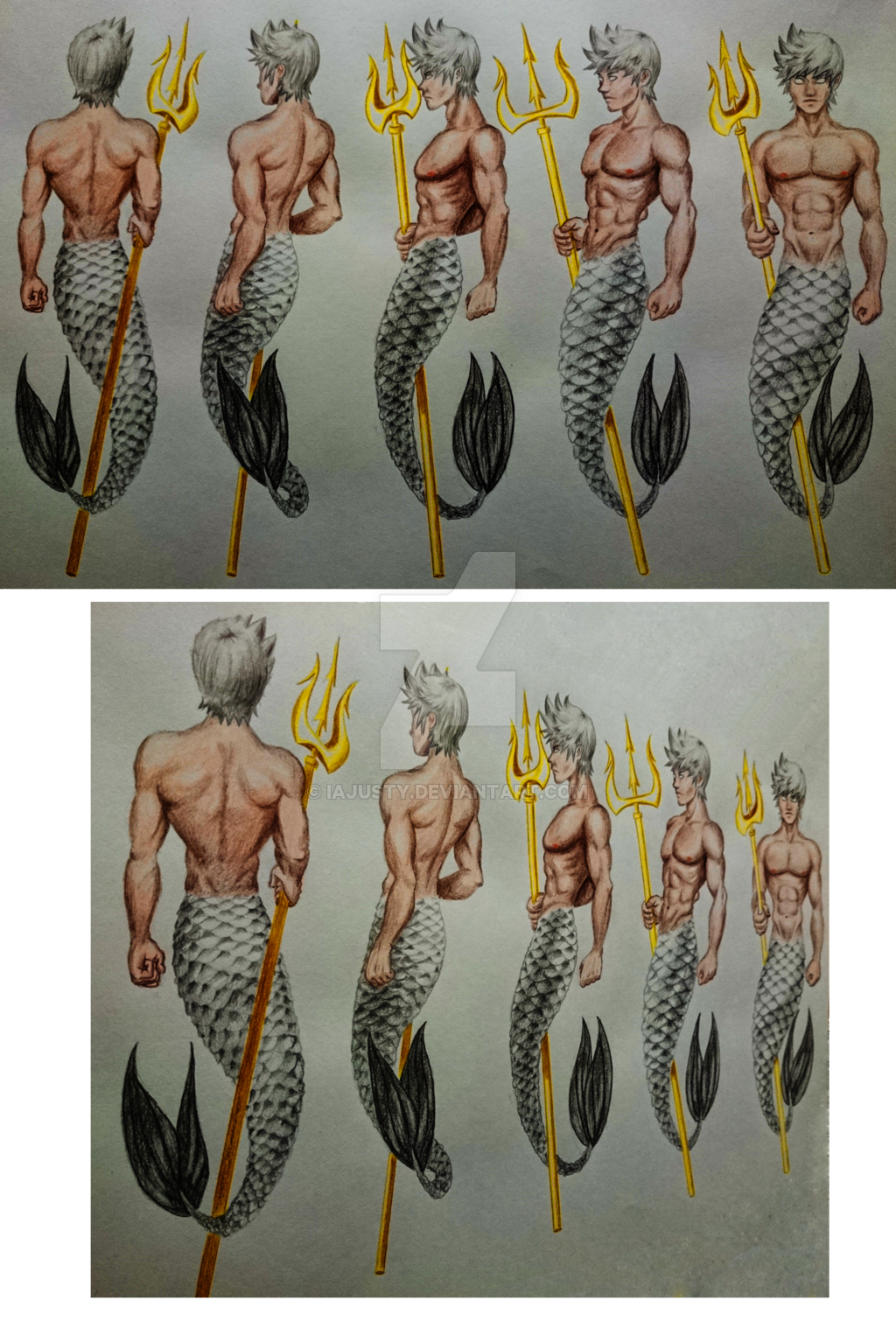 graphic freeuse library Drawn Mermaid male