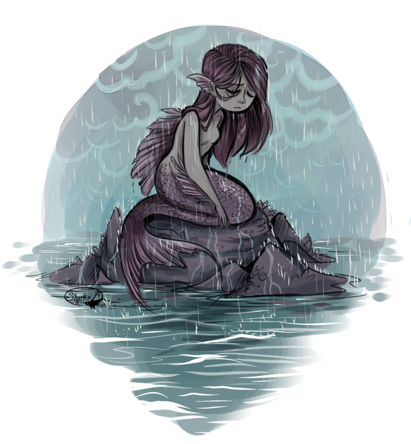 image transparent library Mermaid in the Rain by sharkie