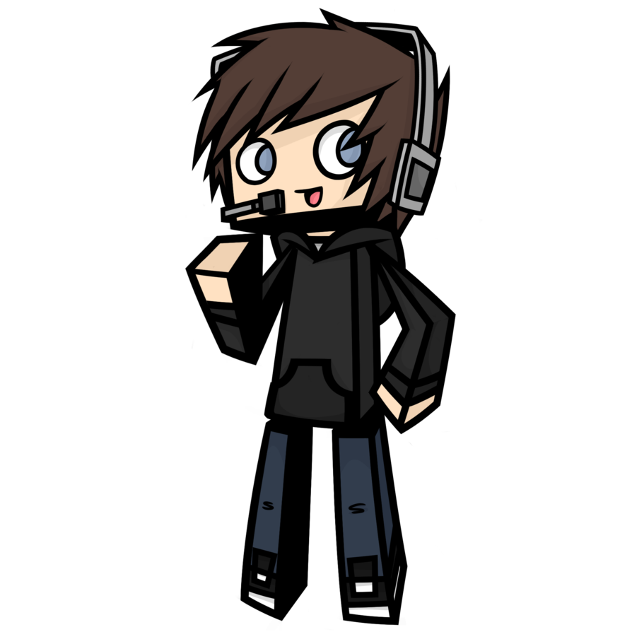 vector royalty free download drawing minecraft boy #95183402