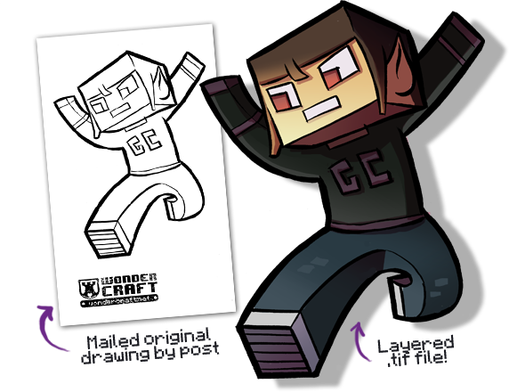 picture free stock Minecraft Character Drawing at GetDrawings