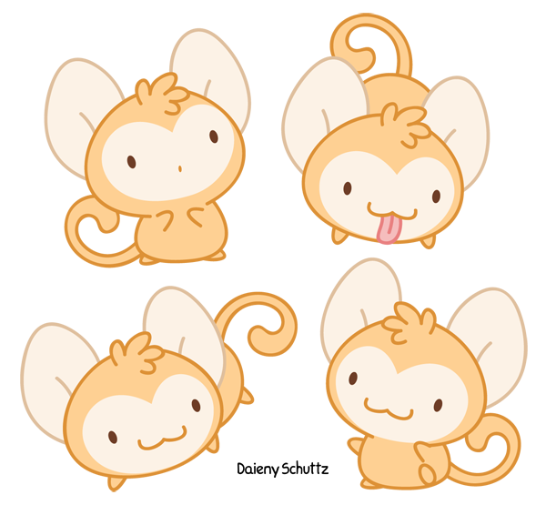 clipart library library Chibi Monkey by Daieny on DeviantArt