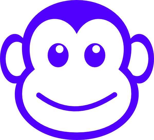 banner freeuse monkey face line drawing